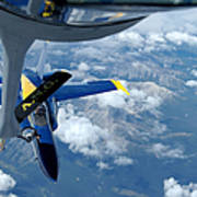 A Kc-135 Stratotanker Refuels An Fa-18 Poster by Stocktrek Images