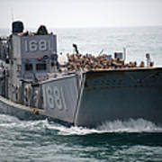 A Landing Craft Utility Transits Poster