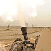 A M120 Mortar System Is Fired Poster