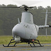 A Rq-8a Fire Scout Unmanned Aerial Poster