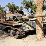 A T-72 Tank Destroyed By Nato Forces Poster