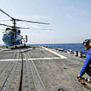 A Ukrainian Navy Ka-27 Helix Helicopter Poster