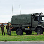 A Unimog Vehicle Of The Belgian Army Poster