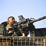 A U.s. Marine Fires A Gmg Automatic Poster