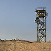 Abandoned Watchtower In The Desert Poster
