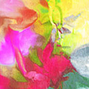 Abstract Garden Impressions Poster