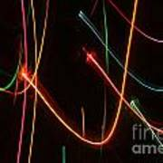 Abstract Motion Lights Poster