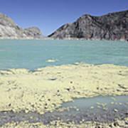 Acidic Crater Lake, Kawah Ijen Volcano Poster