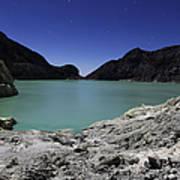 Acidic Crater Lake On Kawah Ijen Poster