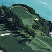 Aerial Of A Golf Course In Bermuda Poster