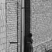 Afghan Girl In Doorway  Poster