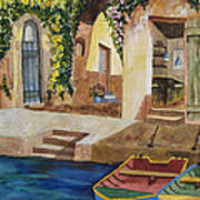 Afternoon At The Piazzo Poster by Kimberlee Weisker
