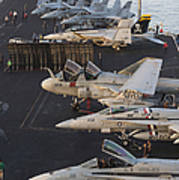 Aircraft Parked On The Flight Deck Poster