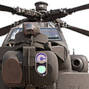 An Ah-64d Apache Helicopter Poster
