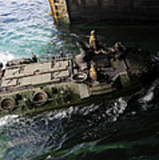 An Amphibious Assault Vehicle Enters Poster