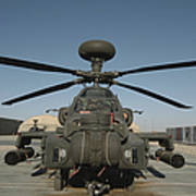An Apache Helicopter At Camp Bastion Poster