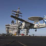 An E-2c Hawkeye Makes An Arrested Poster