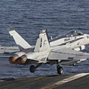 An Fa-18c Hornet Taking Poster