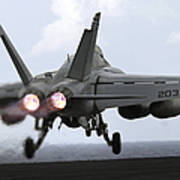 An Fa-18e Super Hornet Launches Poster