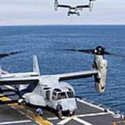An Mv-22 Osprey Tiltrotor Aircraft Poster