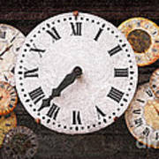 Antique Clocks Poster by Elena Elisseeva
