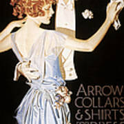 Arrow Shirt Collar Ad Poster