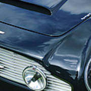 Aston Martin 1963 Aston Martin Db4 Series V Vintage Gt Grille Emblem -0140c Poster