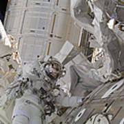 Astronaut Participates In A Session Poster