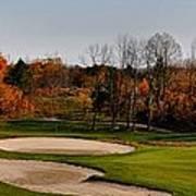 Autumn Golfing  Poster