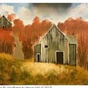 Autumn Rustic Barns Poster