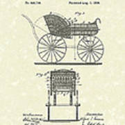 Baby Carriage 1886 Patent Art Poster