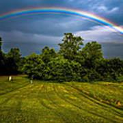Backyard Rainbow Poster