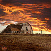 Barn On Highway 21 Poster