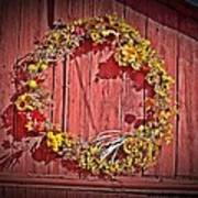 Barn Wreath Poster