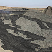 Basaltic Lava Flow From Pit Crater Poster