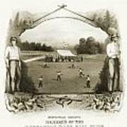 Baseball, 1861 Poster