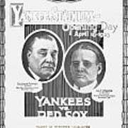 Baseball Program, 1923 Poster