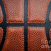 Basketball - Leather Close Up Poster