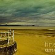 Beach Of Leight Edinburgh Poster by Elena Mussi