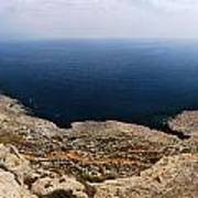 Beautiful View On Mediterranean Sea From Cape Gkreko In Cyprus Poster