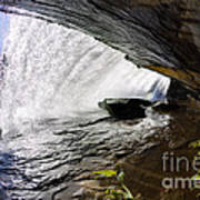 Behind Bridal Veil Falls In Dupont State Park Nc Poster