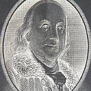Ben Franklin In Negative Poster
