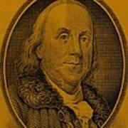Ben Franklin In Orange Poster