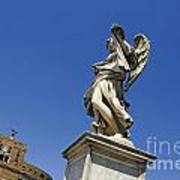 Bernini Statue On The Ponte Sant Angelo Poster by Bernard Jaubert