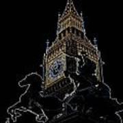 Big Ben And Boudica Statue Poster