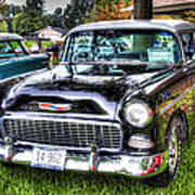 Black And White Chevy Poster
