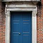 Blue Irish Door Poster