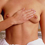 Breast Self-examination By A Woman Poster