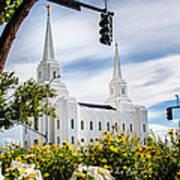 Brigham City Temple Street Lights Poster