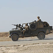 British Soldiers Patrol Afghanistan Poster